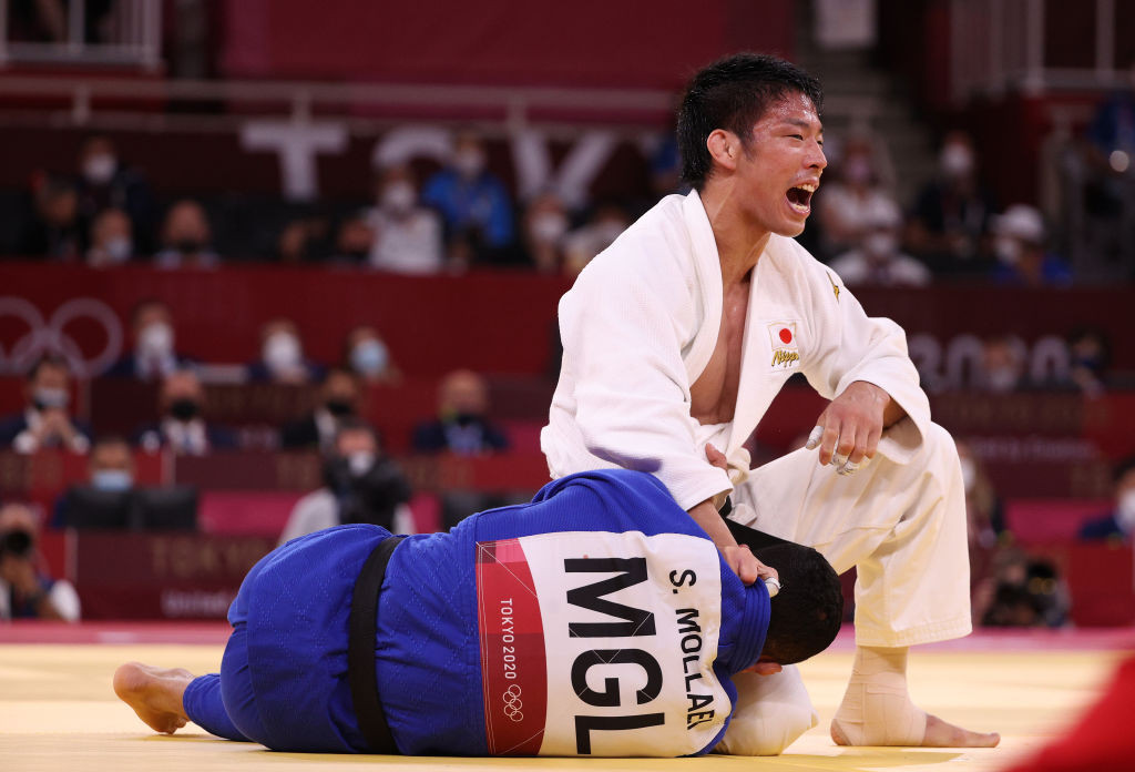 Takanori Nagase adds another judo gold to the Japanese collection at the Tokyo 2020 Olympics as he defeats Mongolia's Saeid Mollaei in the men's under-80 kilograms final at the Budokan ©Getty Images