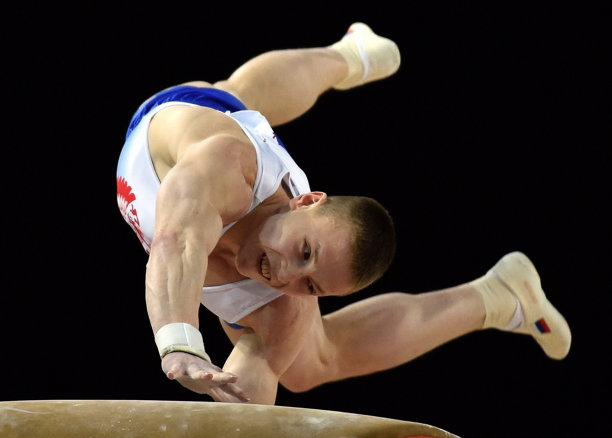 Denis Ablyazin performed routines on the floor, rings, and vault in the men's artistic team all-around event at Tokyo 2020 ©Getty Images