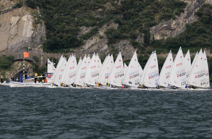 Lake Garda is hosting the ILCA 6 Youth World Championships ©Laser International/Elena Giolai