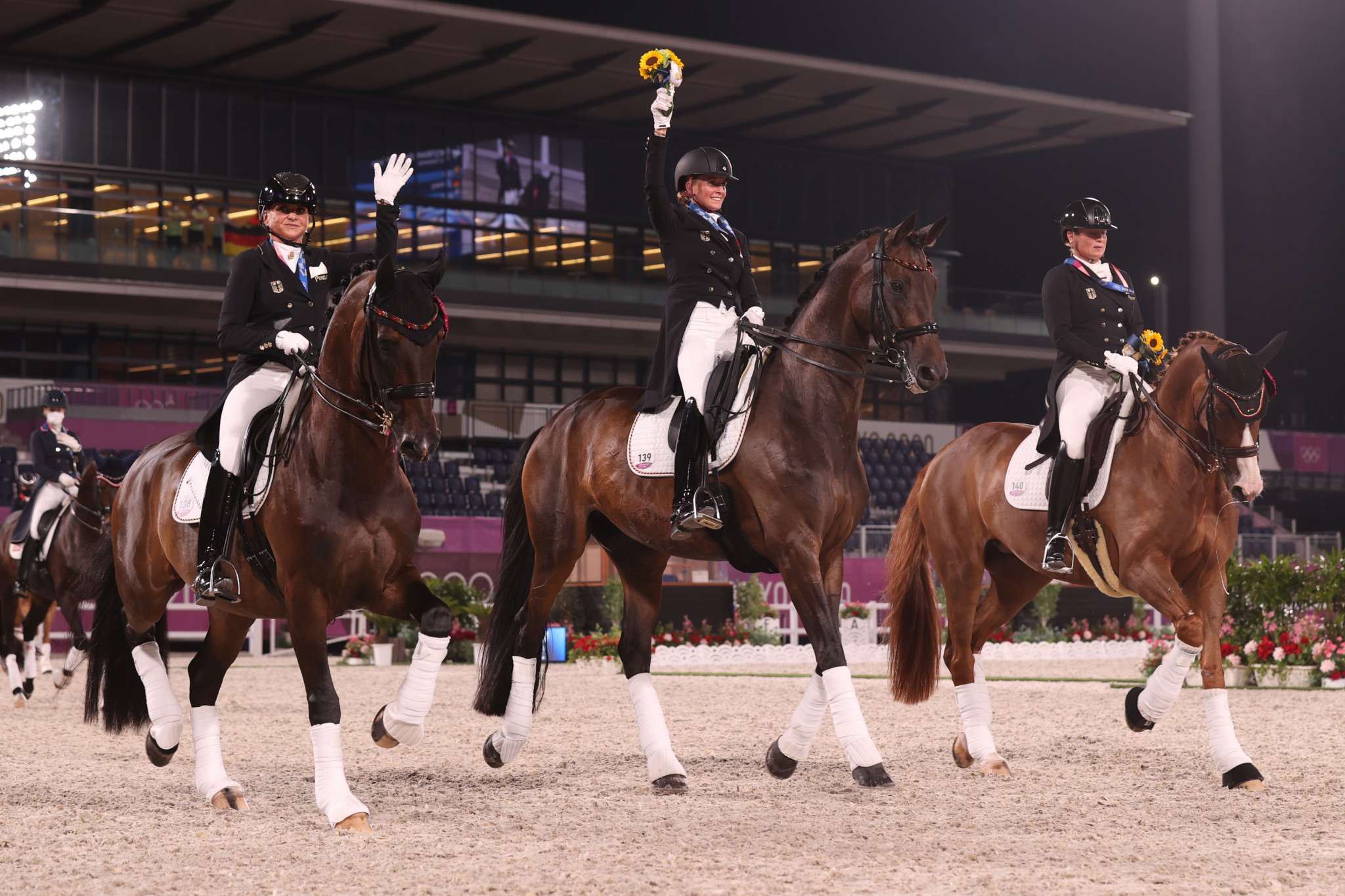 Germany have now won nine of the last 10 Olympic team dressage medals ©Getty Images