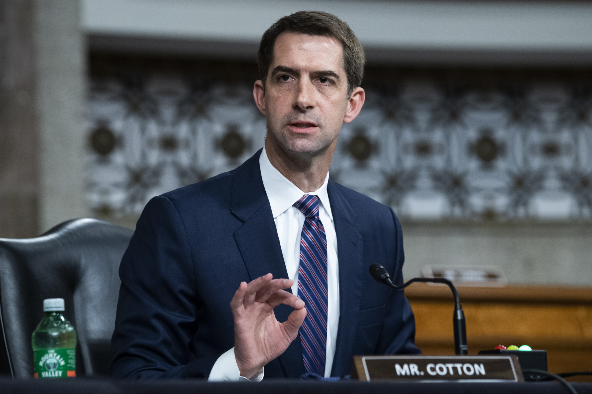 Republican Senator Tom Cotton criticised the witnesses for their responses ©Getty Images