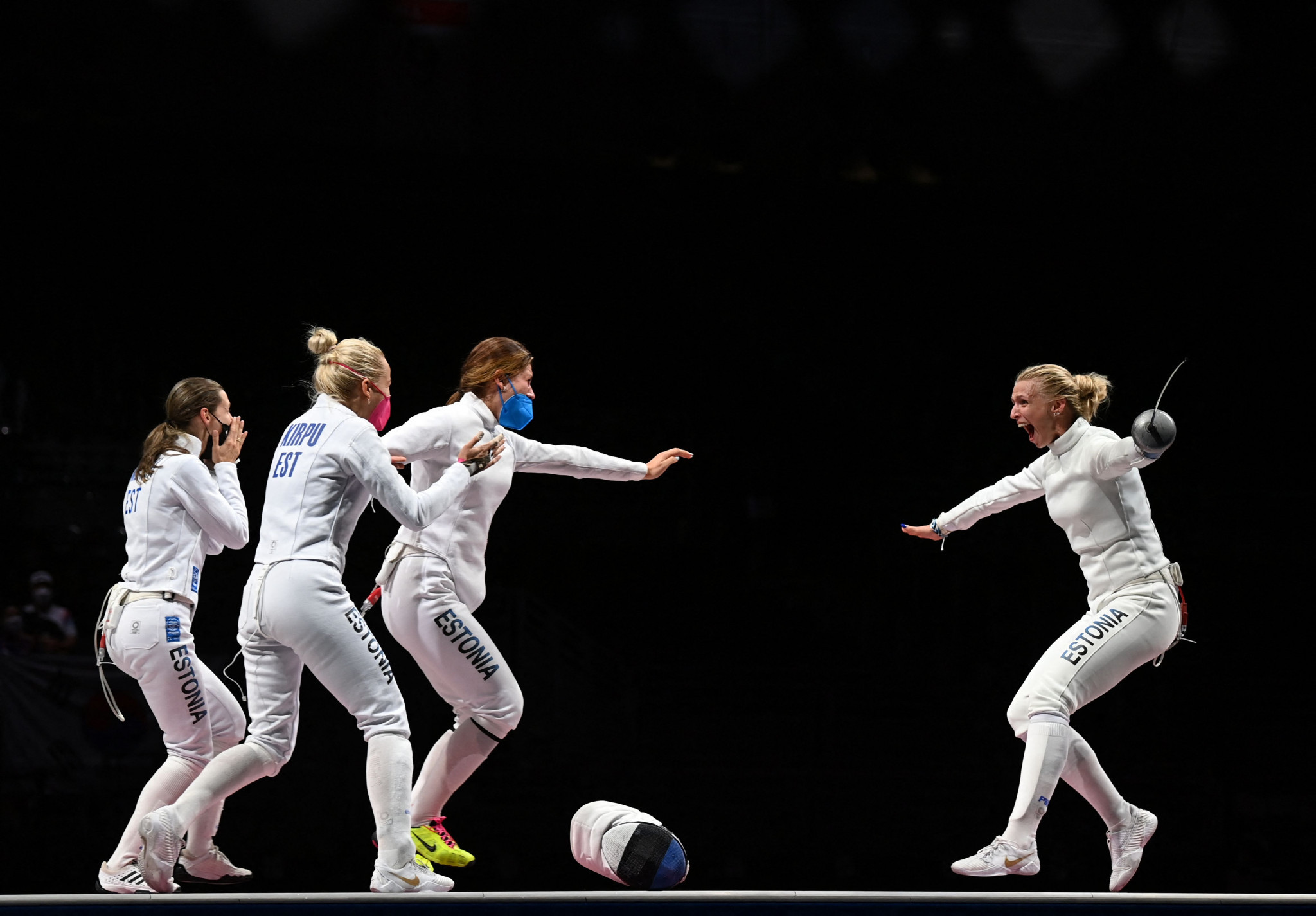 Estonia win first-ever Olympic fencing gold medal in women's team épée