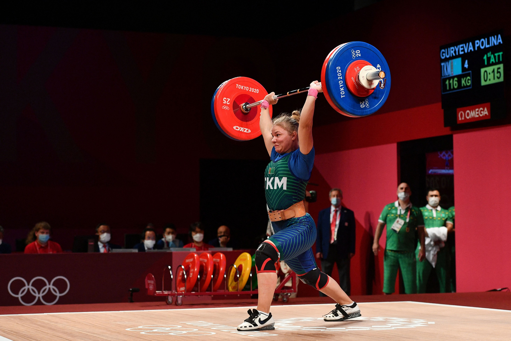 Polina Guryeva won Turkmenistan's first-ever Olympic medal - women's 59kg bronze ©Getty Images