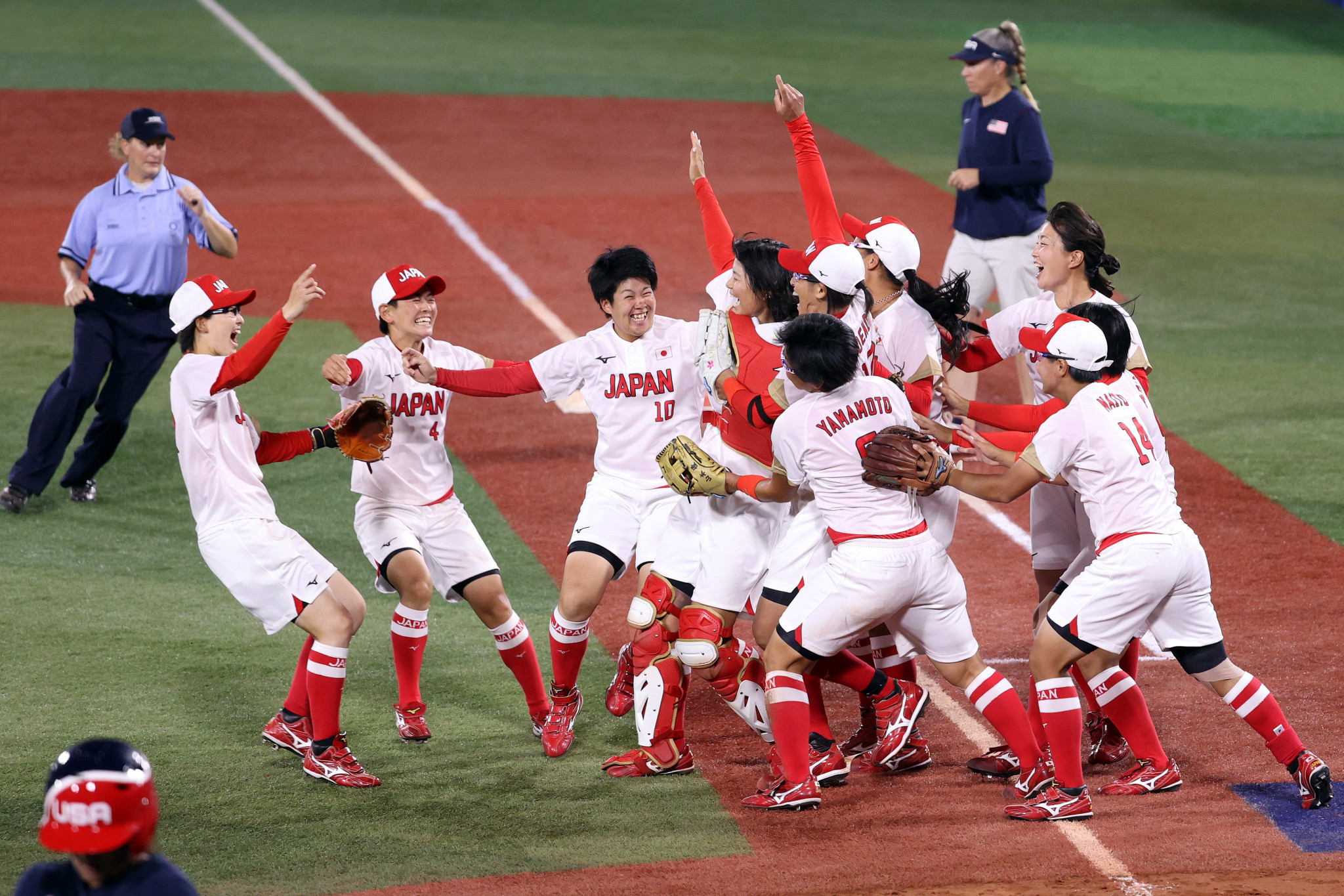 Japan won one the medals the host nation most coveted, beating the United States 2-0 in the softball final ©Getty Images