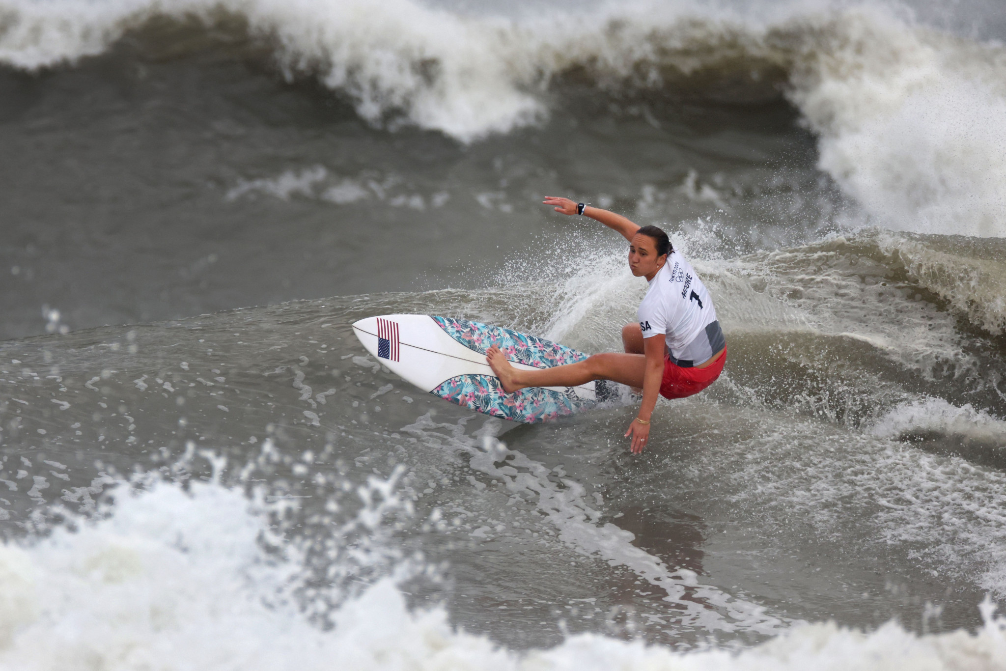 Carissa Moore - an American from Hawaii - wrote herself into history as the maiden Olympic women's surfing champion on the fourth full competition day of the Olympic Games ©Getty Images
