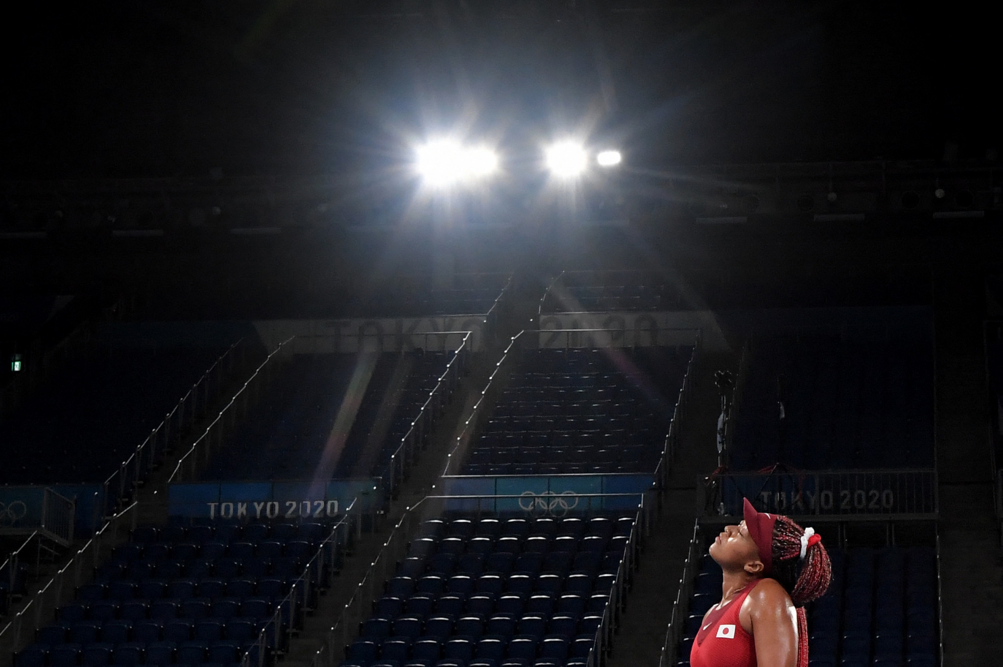 Another of the Games' poster athletes, Naomi Osaka, suffered disappointment, with the Japanese star losing to Czech Markéta Vondroušová in straight sets to exit the women's singles tennis ©Getty Images