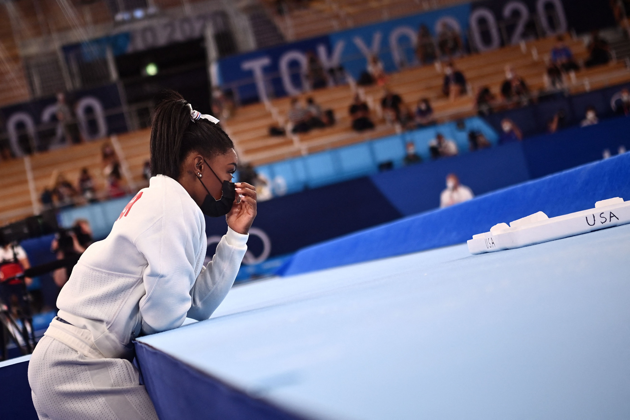 """The main talking point was the absence of Simon Biles, who withdrew after one piece of apparatus and said afterwards that she did so to """"focus on my mental health and not jeopardise my health and well-being"""" ©Getty Images"""