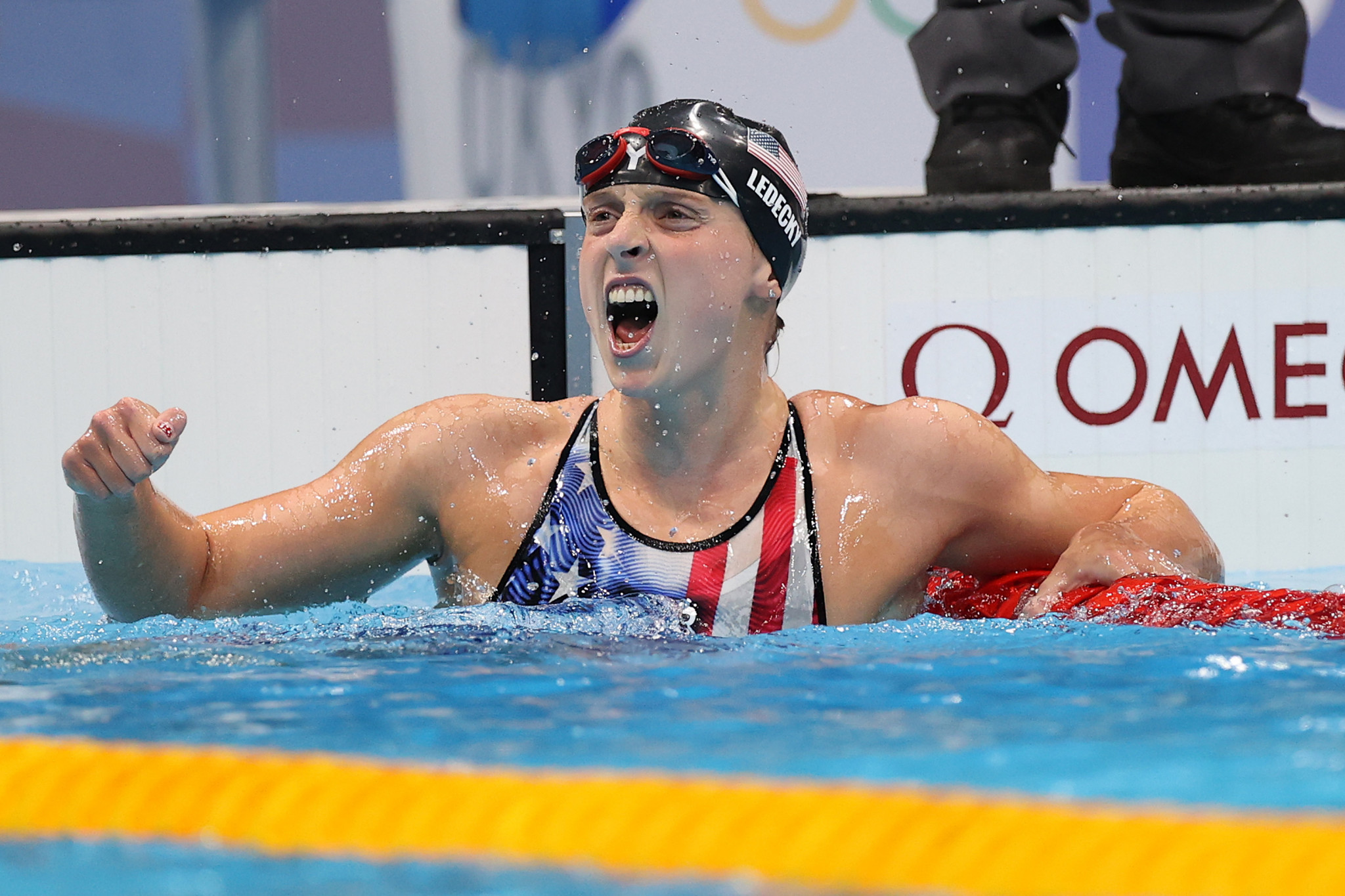 Katie Ledecky won the first Olympic final in the women's 1500m freestyle to win her sixth gold medal ©Getty Images