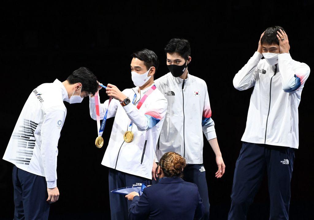 South Korea retain men's team sabre fencing title after nine-year gap