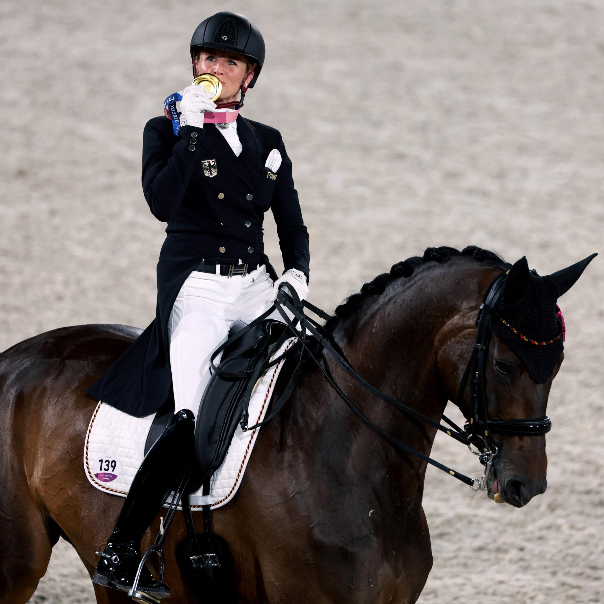 Von Bredow-Werndl adds individual Olympic dressage gold to team crown