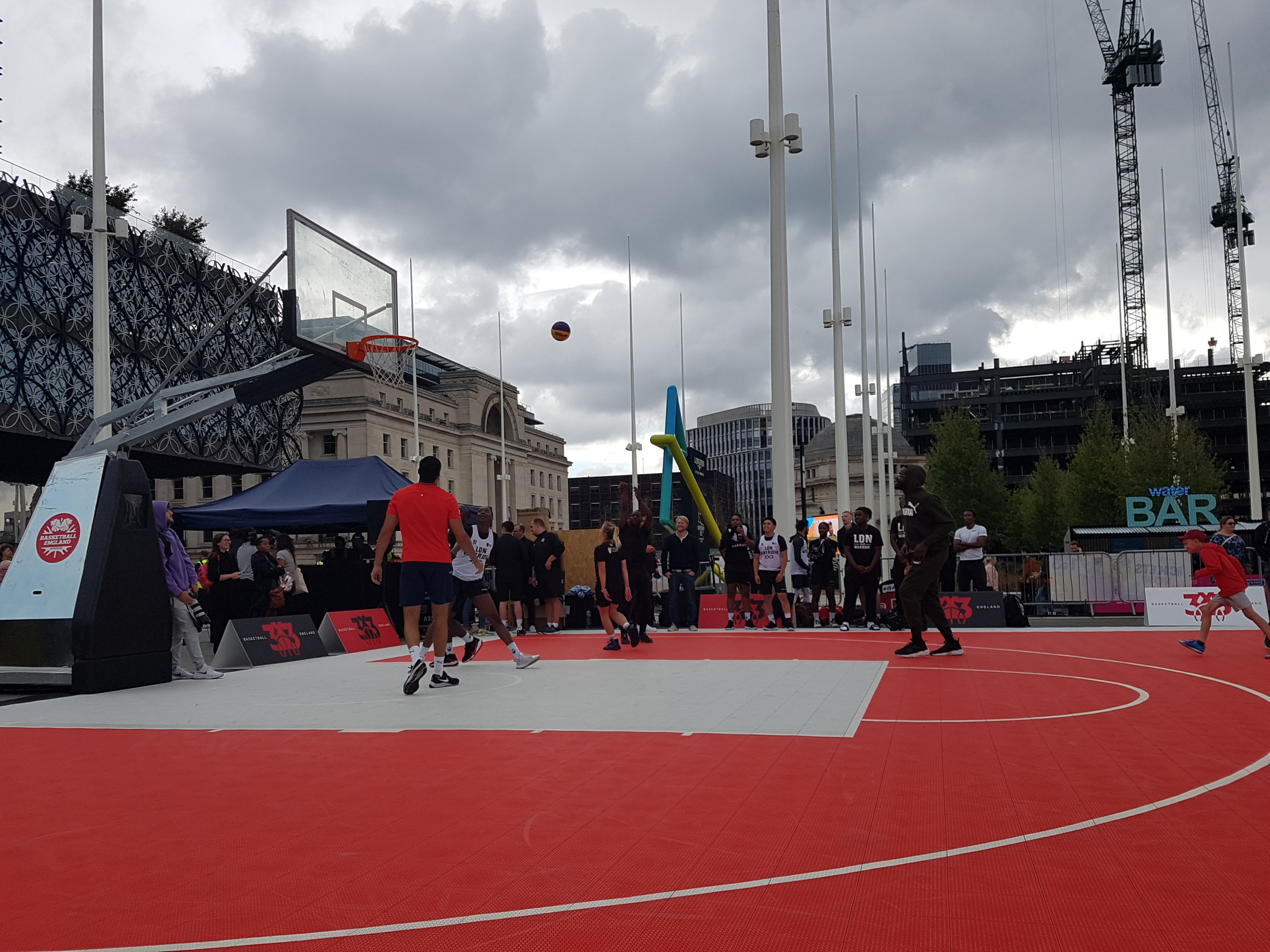 3x3 basketball was one of the sports the public could try out in advance of its Commonwealth Games debut ©ITG