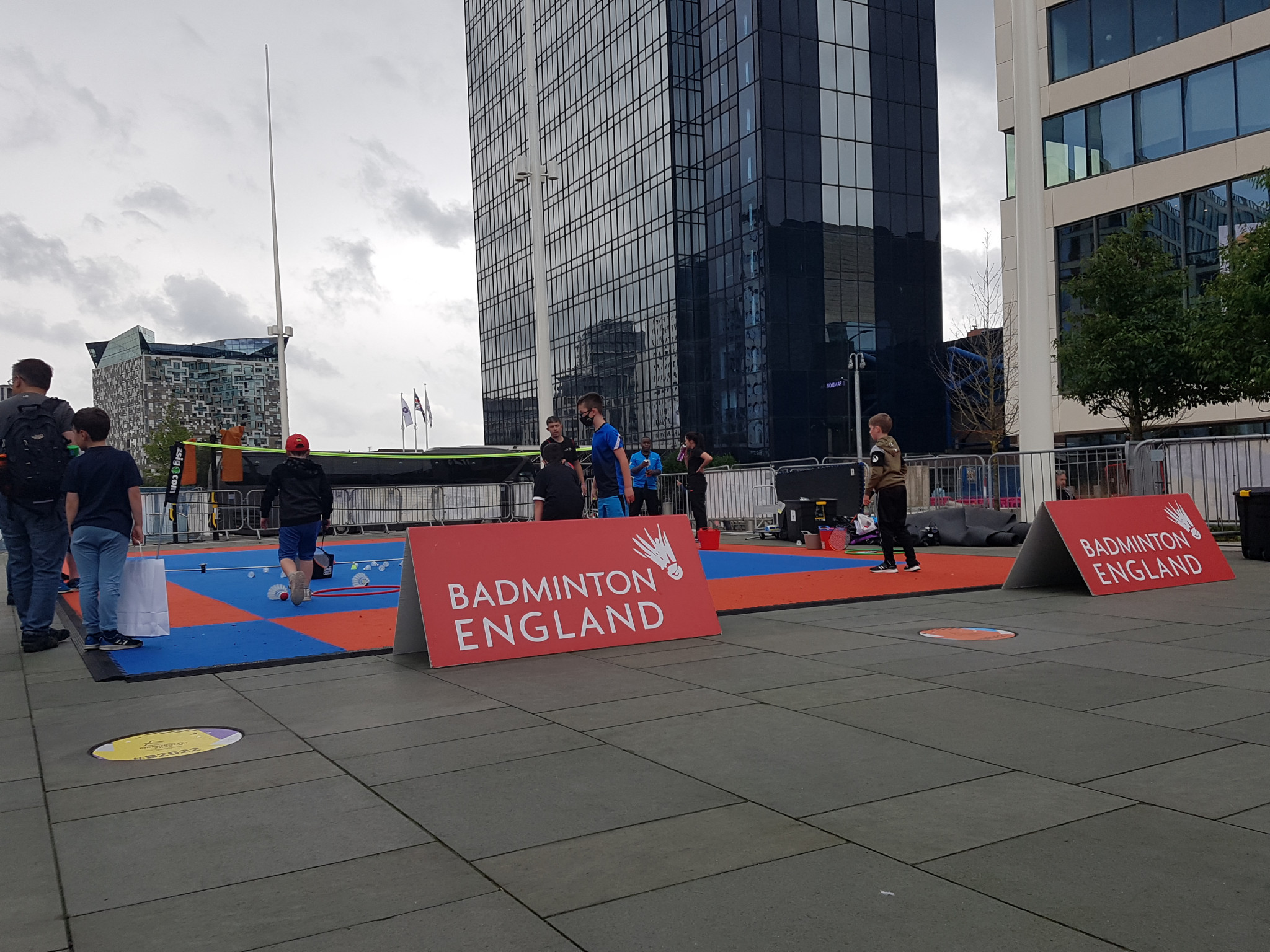 Badminton England was one of many National Federations present in Centenary Square ©ITG