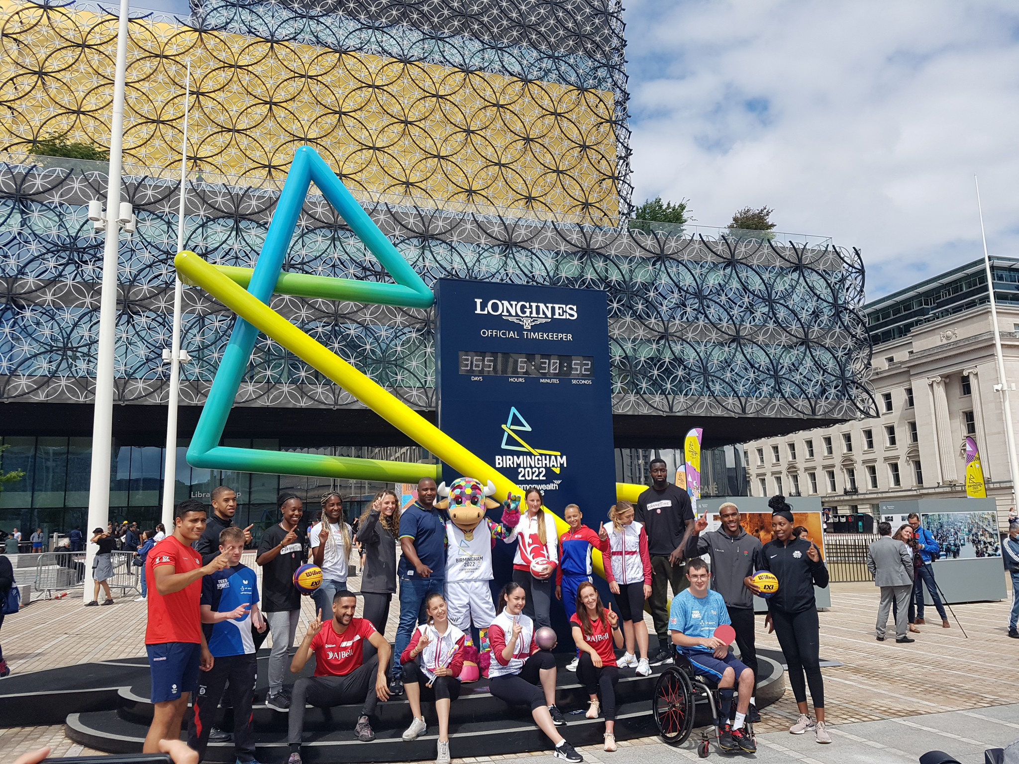 English athletes celebrated one year until the opening of the Birmingham 2022 Commonwealth Games today ©ITG