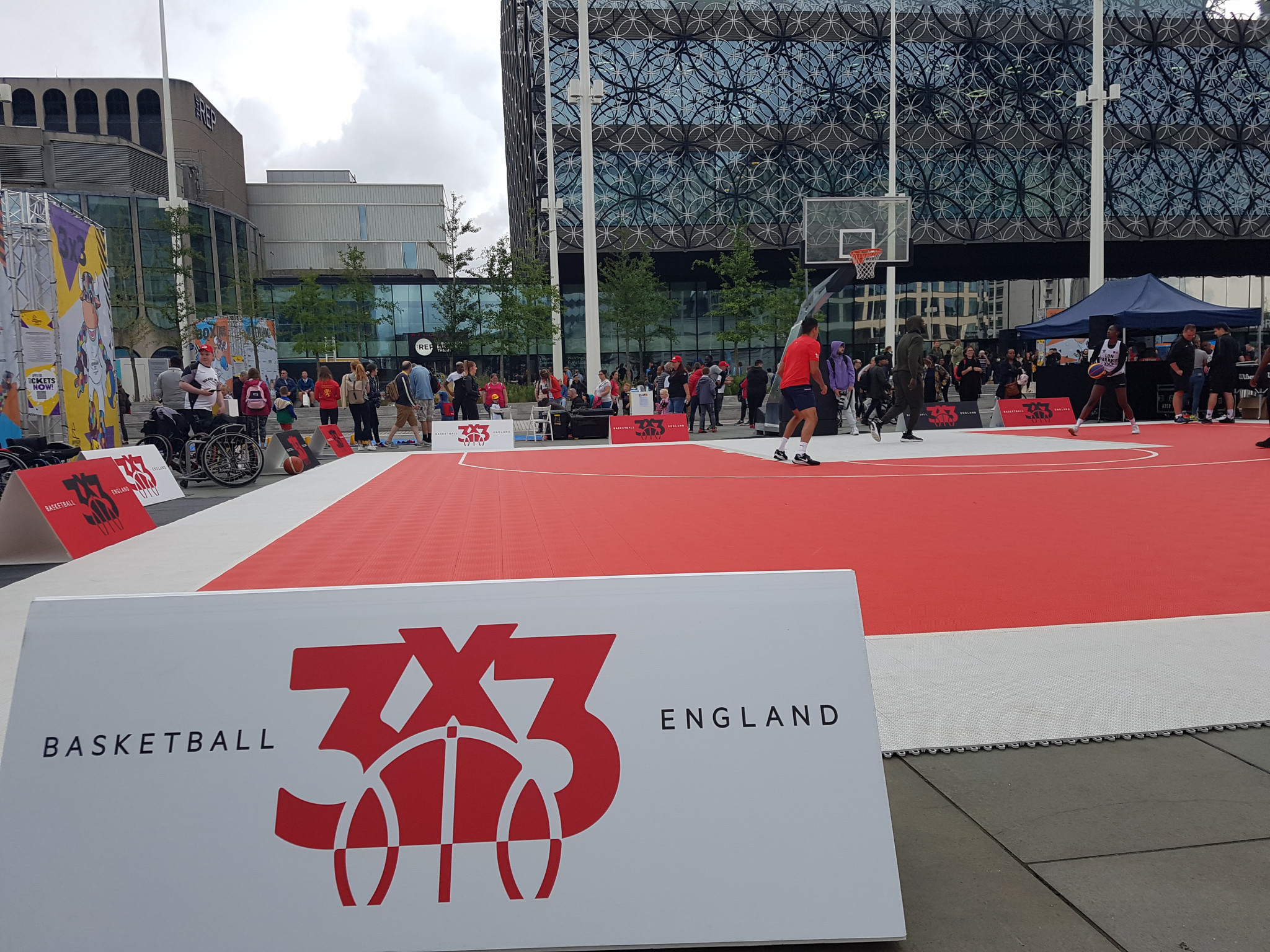 3x3 basketball was one of the most popular events at the festival, with locals able to try the sport before its Olympic debut ©ITG