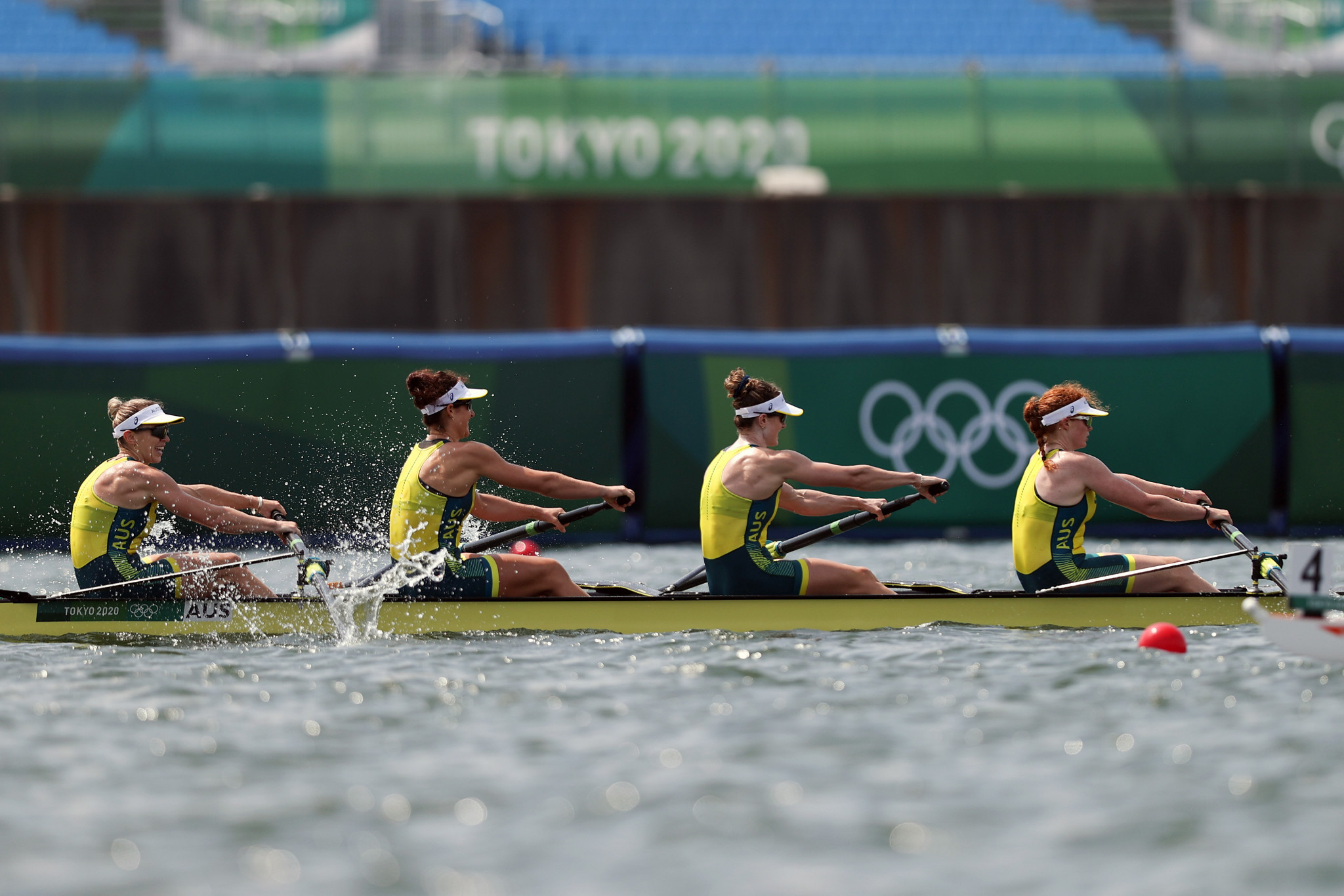 The first rowing finals were held and Australia's women's coxless four were among the winners - as were the country's men's coxless four ©Getty Images