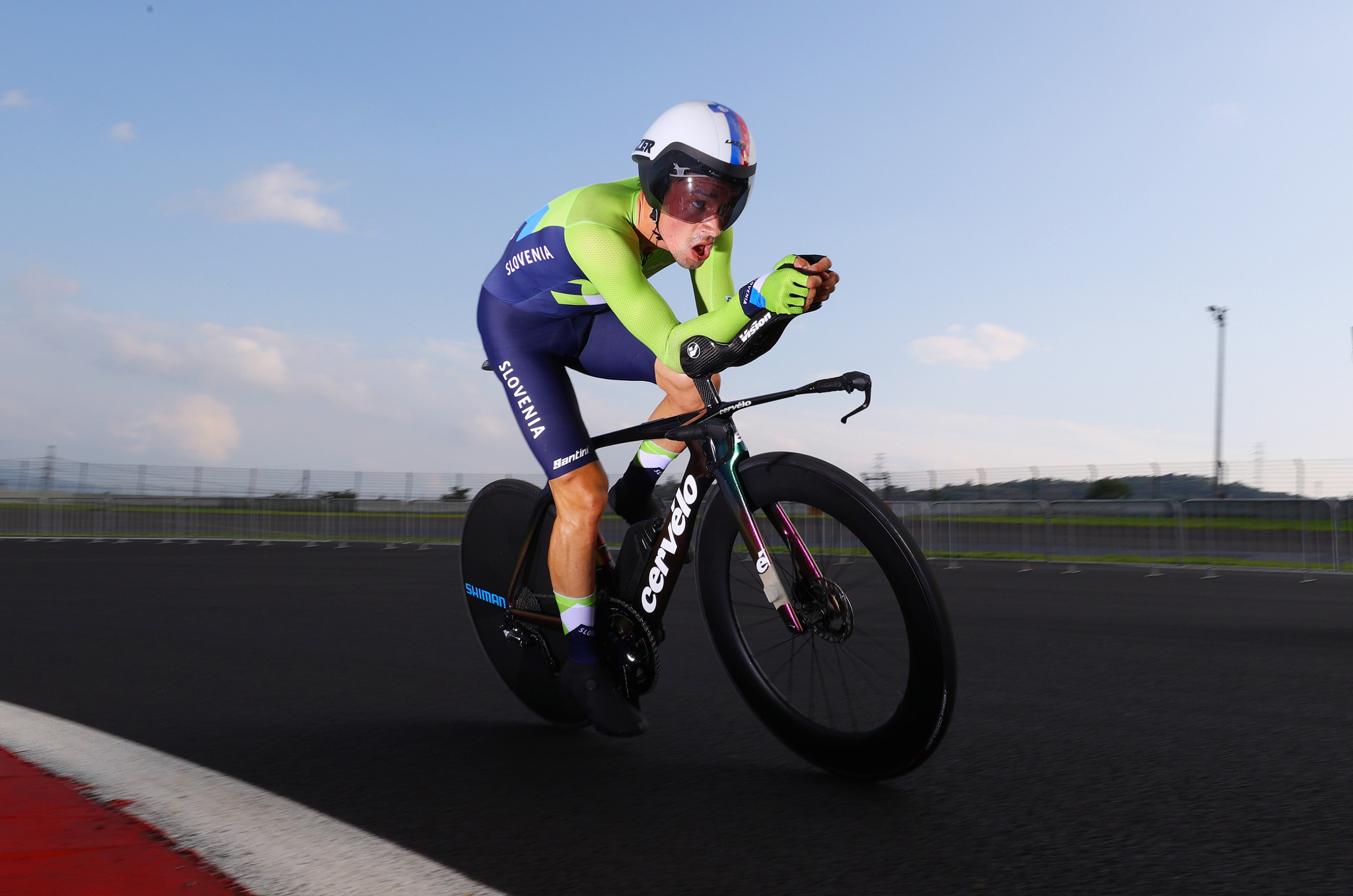 Slovenia's Primož Roglič was crowned men's Olympic individual time trial champion at the Izu International Speedway, bouncing back from Tour de France disappointment in fine fashion ©Getty Images