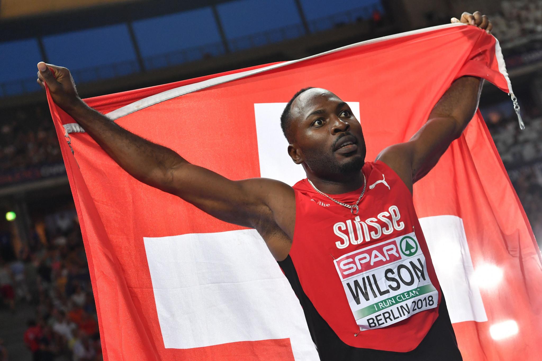 Switzerland's Jamaican-born Alex Wilson won men's 200m bronze at the 2018 European Championships ©Getty Images