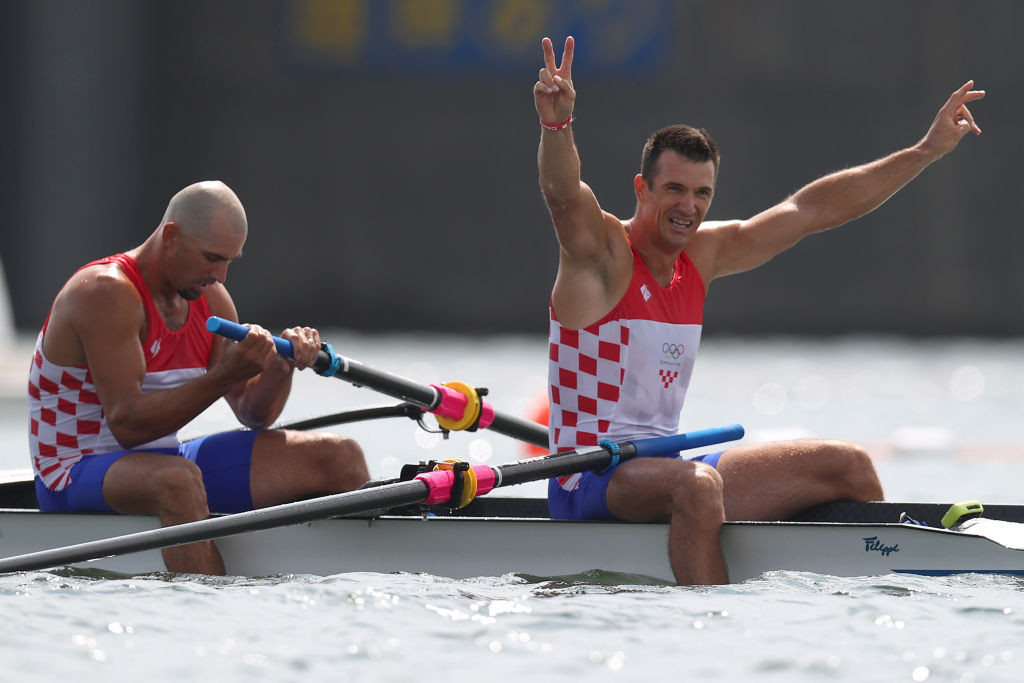 World champions become Olympic gold medallists in pair finals as Ireland and Italy make history