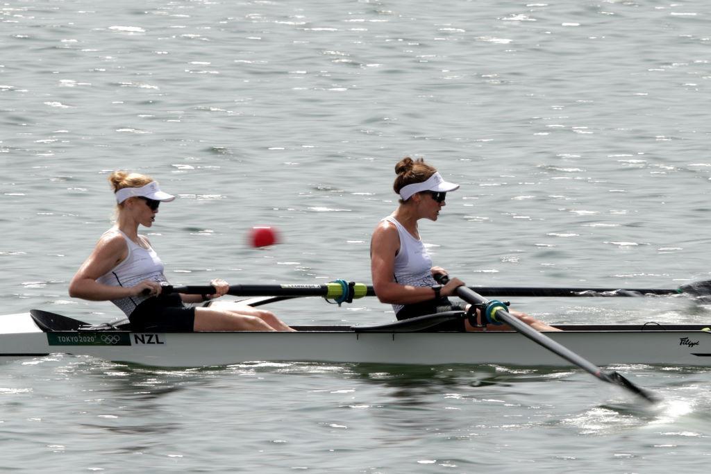 Le campionesse del mondo neozelandesi Grace Brendercast e Kerry Kowler nel viaggio olimpico di doppio femminile © Getty Images