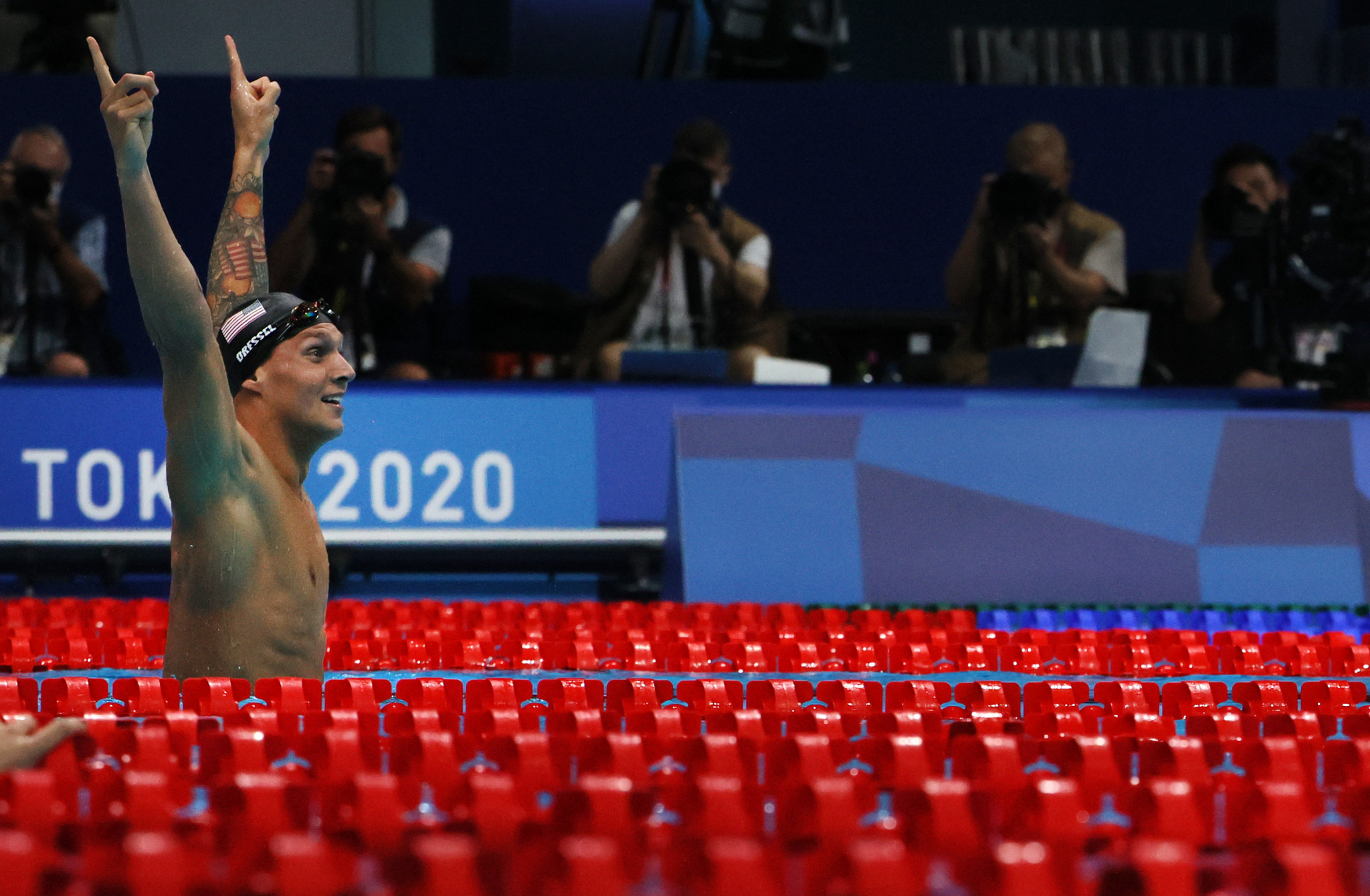 Caeleb Dressel was crowned men's 100 metres freestyle champion ©Getty Images