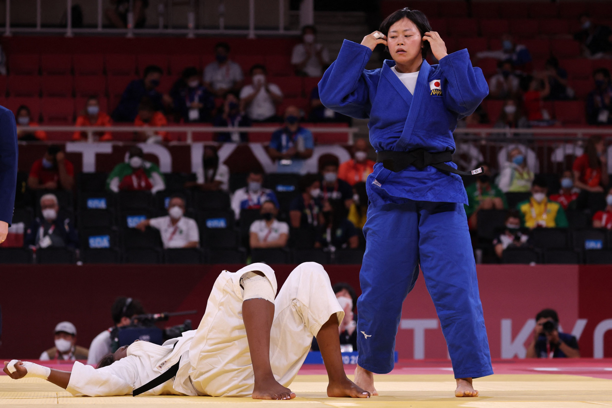 Shori Hamada appeared to hardly break sweat during her gold medal match against Madeleine Malonga ©Getty Images