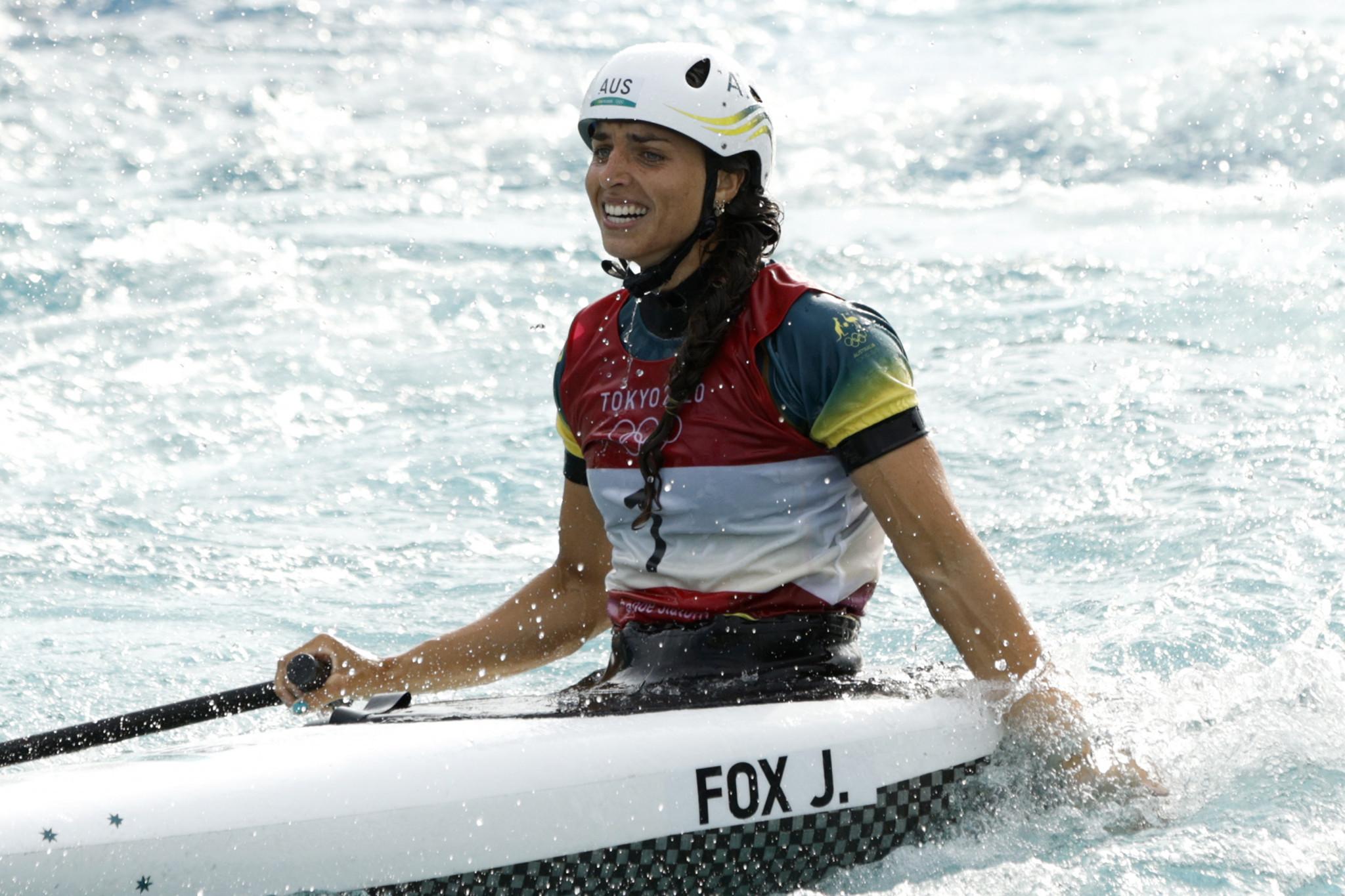 Fox finally tops Olympic podium in first women's canoe slalom final