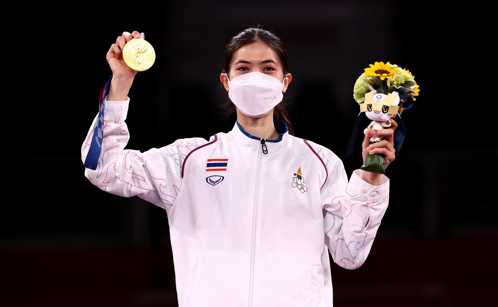 Olympic taekwondo gold medallist Wongpattanakit receives hero's reception in Thailand