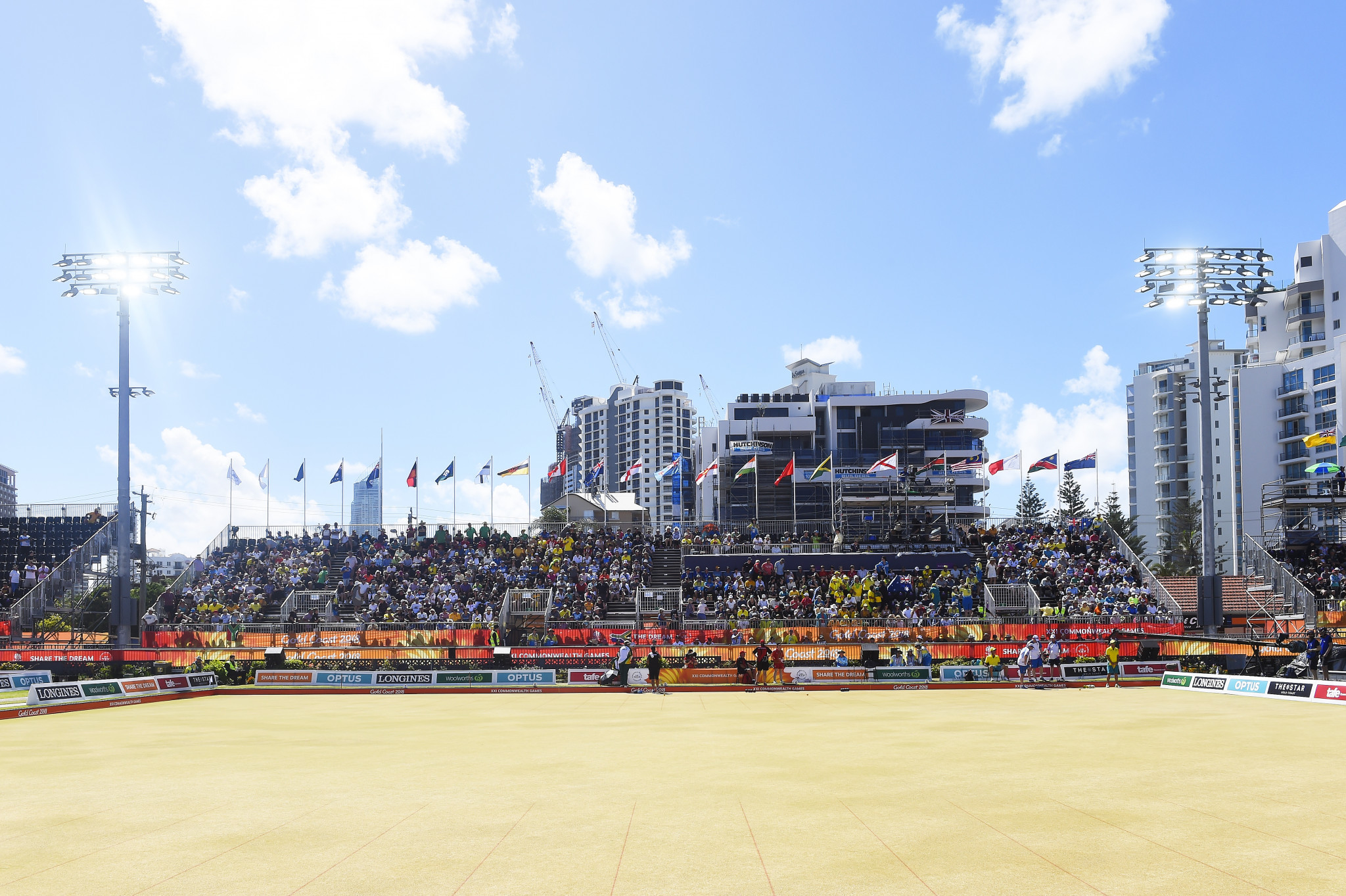 Broadbeach Bowls Club held lawn bowls events at the Gold Coast 2018 Commonwealth Games ©Getty Images