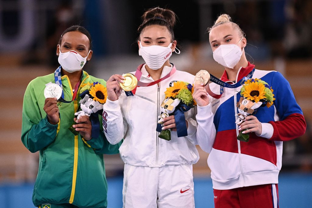 Sunisa Lee edged out Rebeca Andrade of Brazil to clinch the Olympic title ©Getty Images