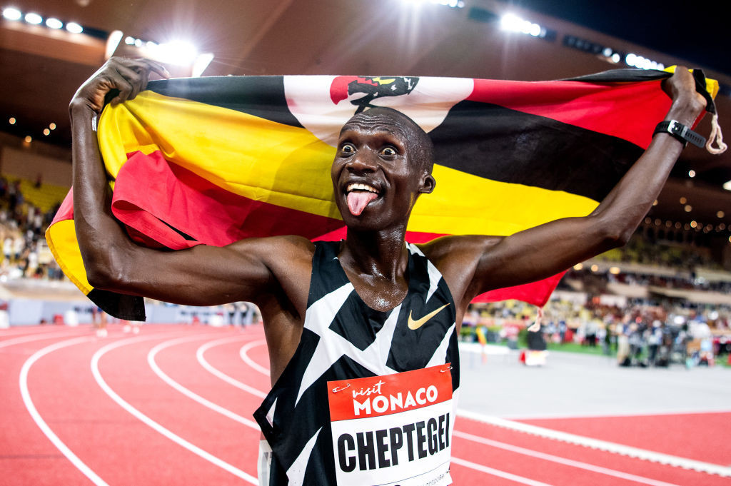 World 5,000m and 10,000m record-holder Joshua Cheptegei will seek Olympic gold in the longer distance in the first Olympic athletics final tomorrow night ©Getty Images