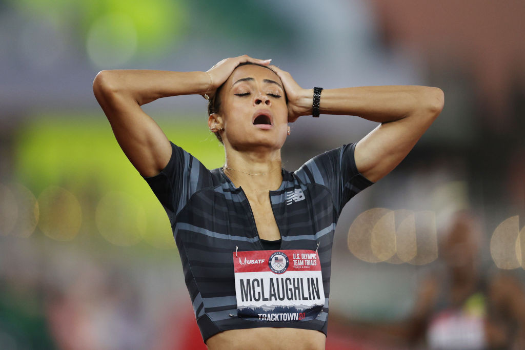 Twenty-one year old Sydney McLaughlin, pictured at the US Olympic trials after becoming the first woman to better 52 seconds for the 400m hurdles, will be at the centre of a much-anticipated event in Tokyo ©Getty Images