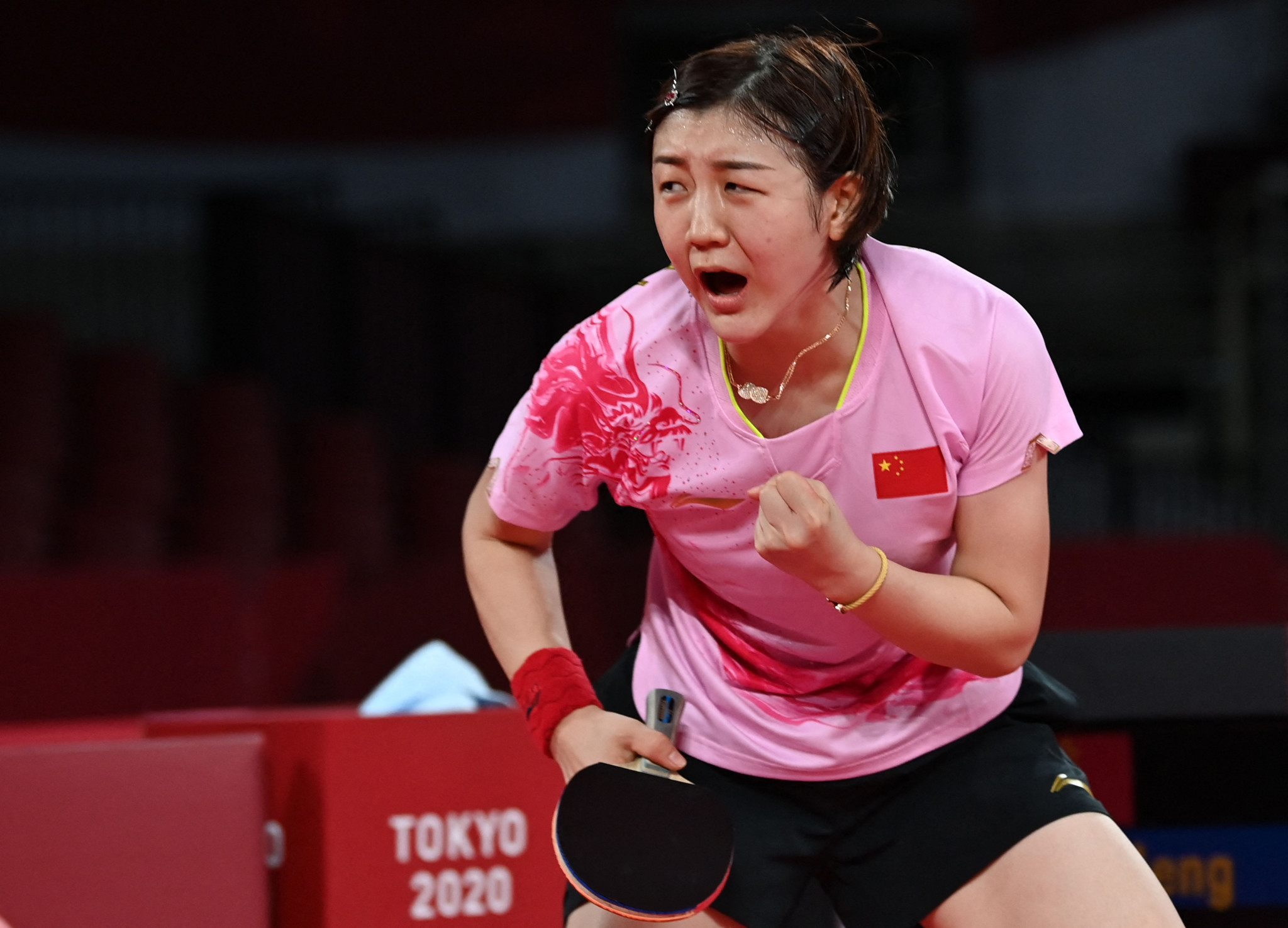 Chen Meng won women's table tennis gold here ©Getty Images