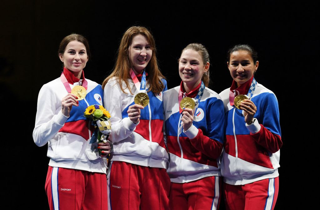 ROC team beats France to earn Olympic women's team foil gold