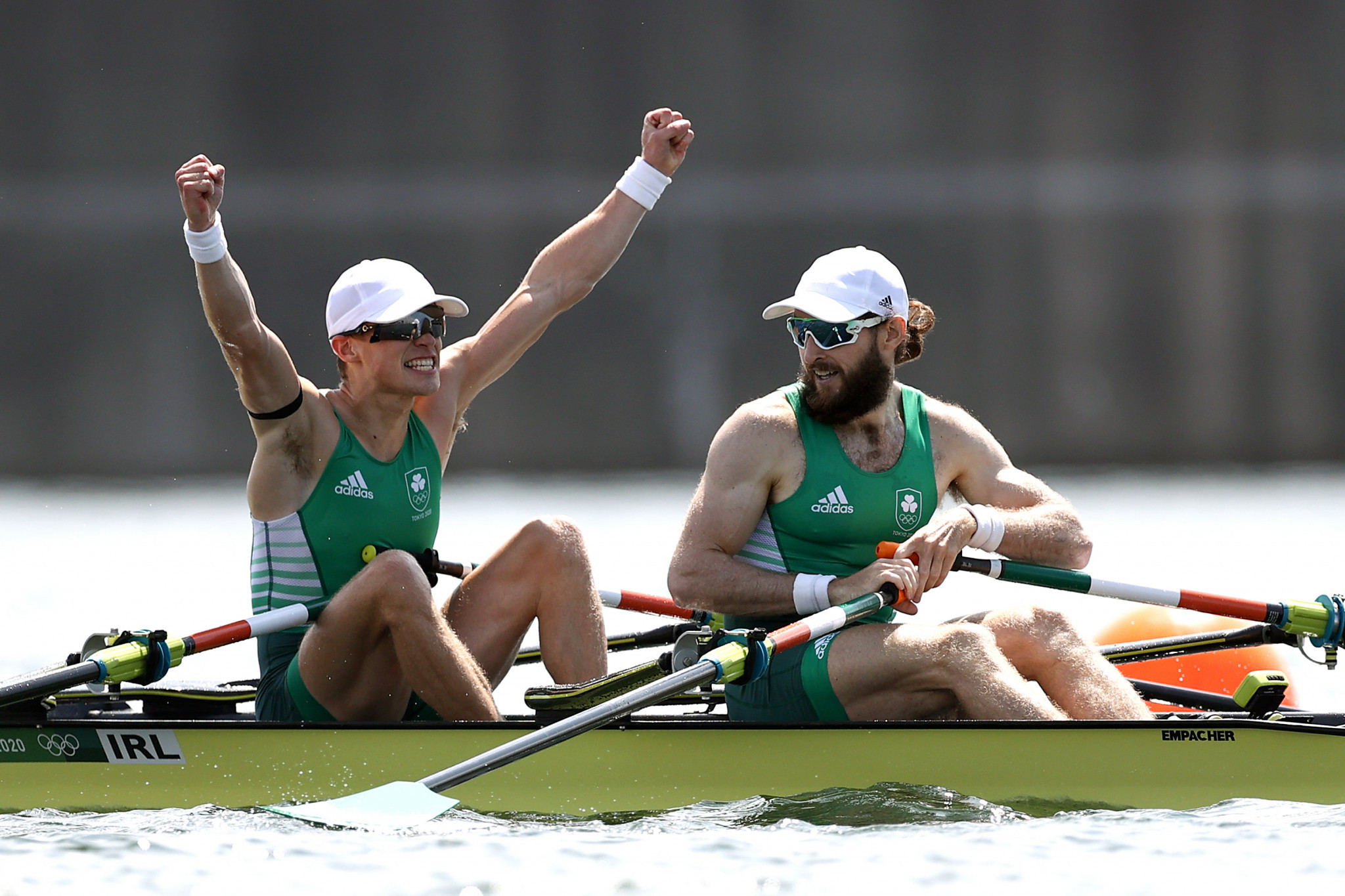 Fintan McCarthy and Paul O'Donovan became the first Irishmen to win Olympic gold since 1992, triumphing in the men's lightweight double sculls ©Getty Images