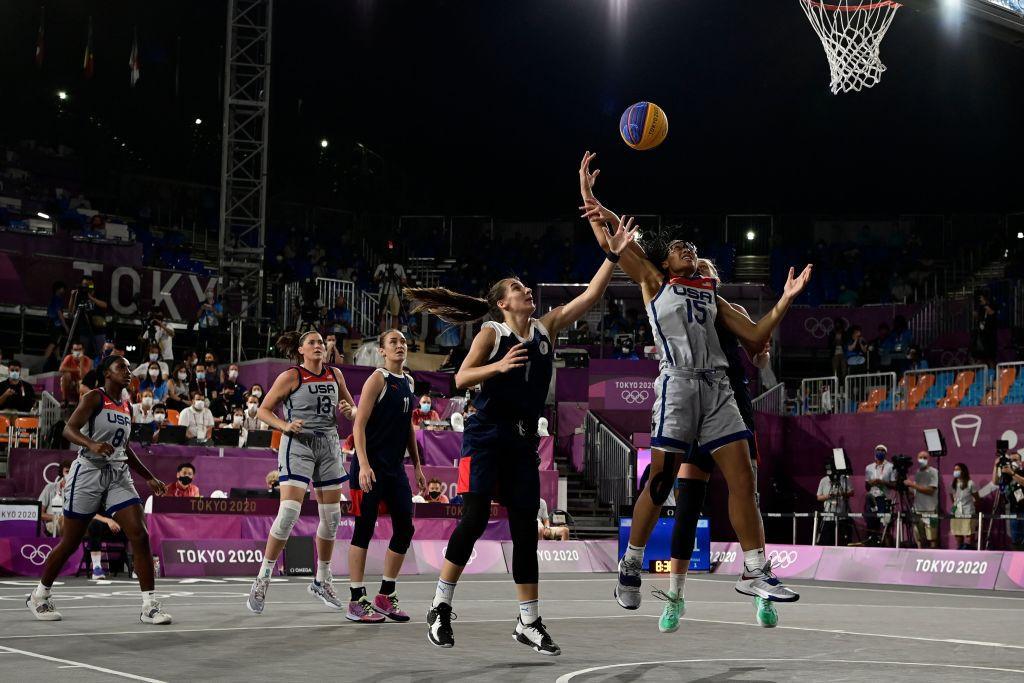 Koszykówka 3x3 zadebiutowała na olimpijskim debiucie w Tokio 2020 © Getty Images
