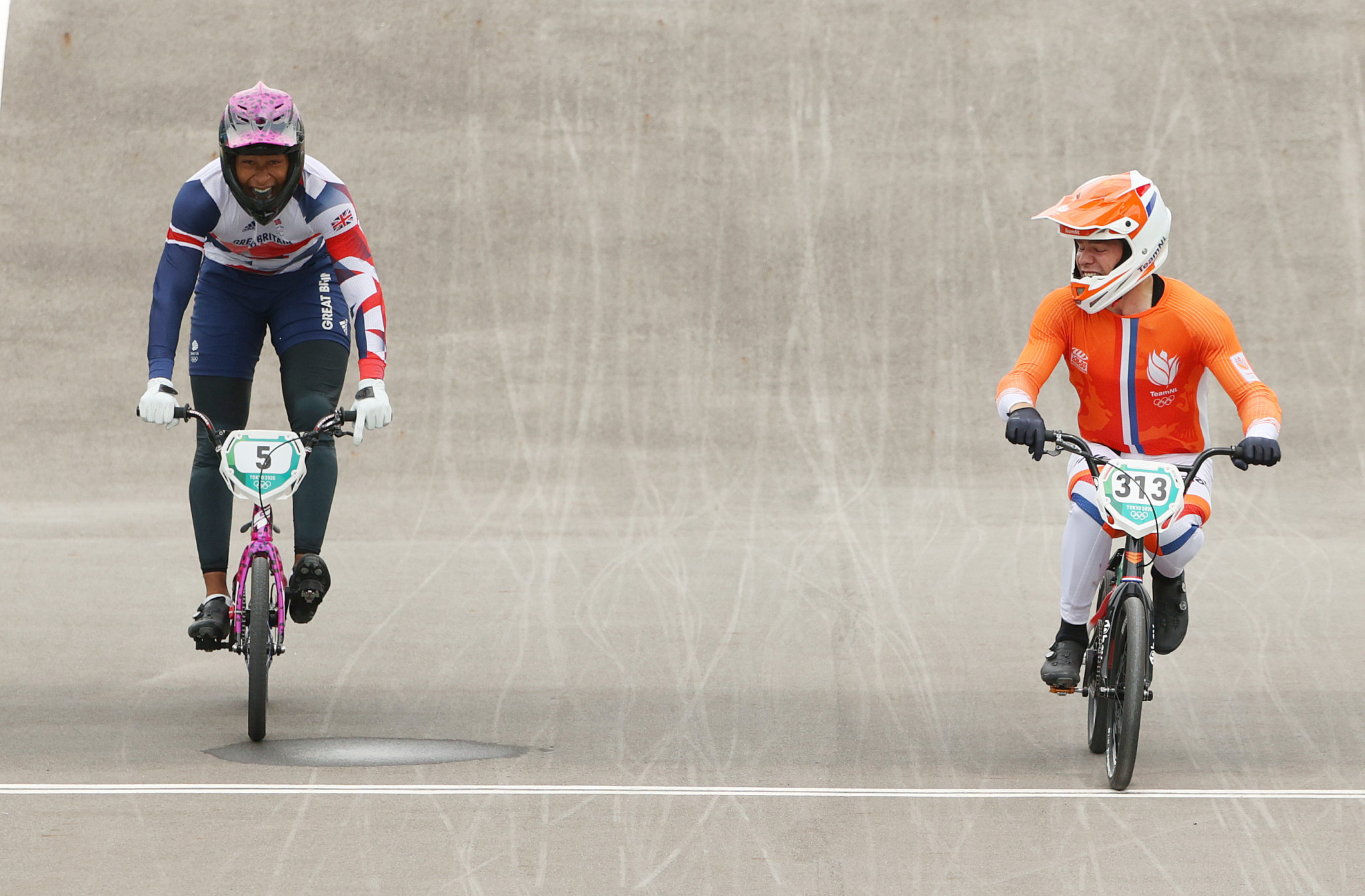 The Netherlands' Niek Kimmann triumphed in the men's BMX competition ©Getty Images