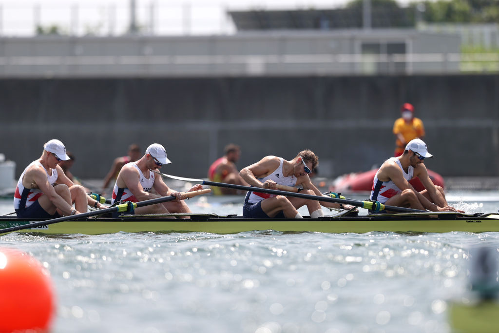 Britain finished fourth in the Tokyo men's four final after a run of five Olympic victories in that event ©Getty Images