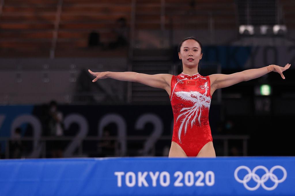 Zhu edges Liu to secure women's trampoline gold at Tokyo 2020