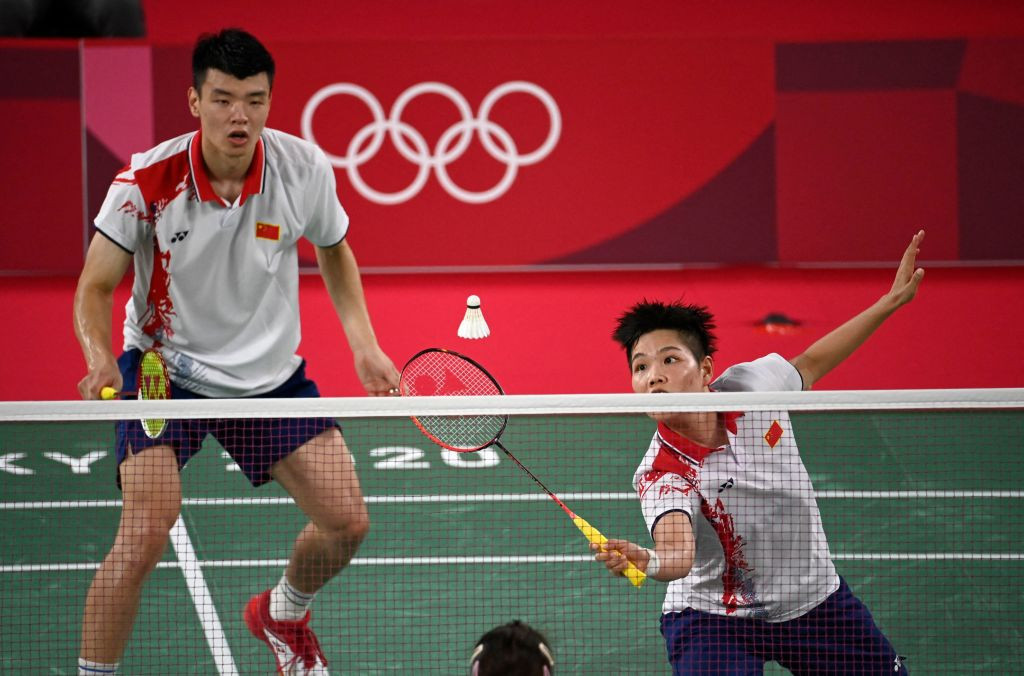 Wang Yilyu and Huang Dongping earned just their second win over their compatriots ©Getty Images