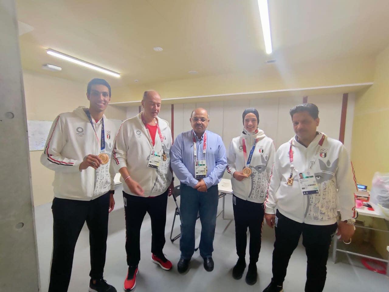 Egyptian taekwondo medallists rewarded by country's NOC