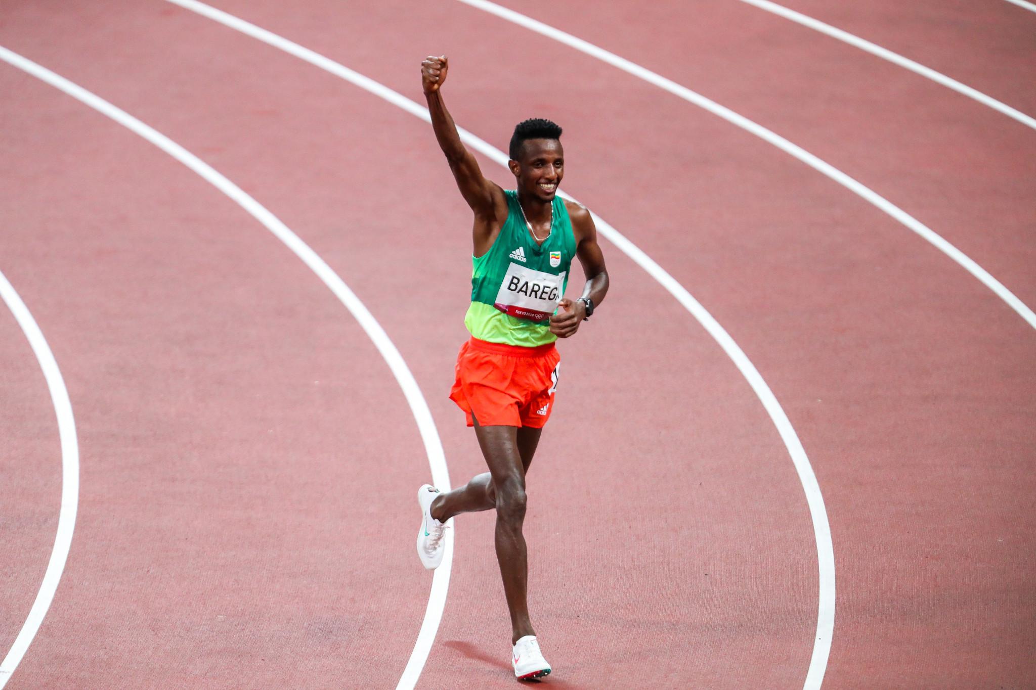 Selemon Barega of Ethiopia won the first athletics gold of Tokyo 2020, winning the men's 10,000 metres title ©Getty Images