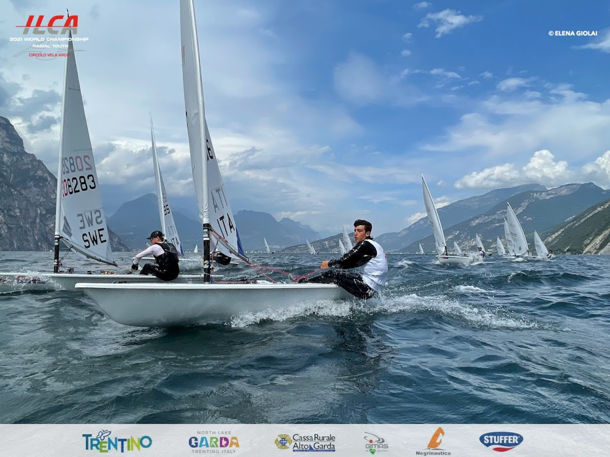 Cesana and McMahon lead fleet on penultimate day of ILCA 6 Youth World Championships