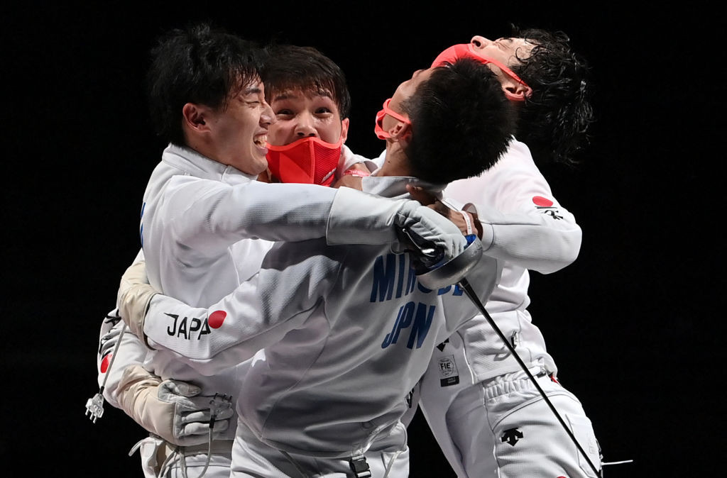 Japan move to record Olympic gold medal haul after shock fencing win at Tokyo 2020