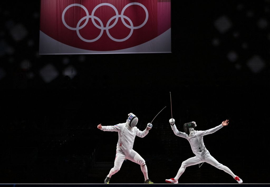 Japan stunned the ROC in the final to secure an historic Olympic fencing gold medal ©Getty Images