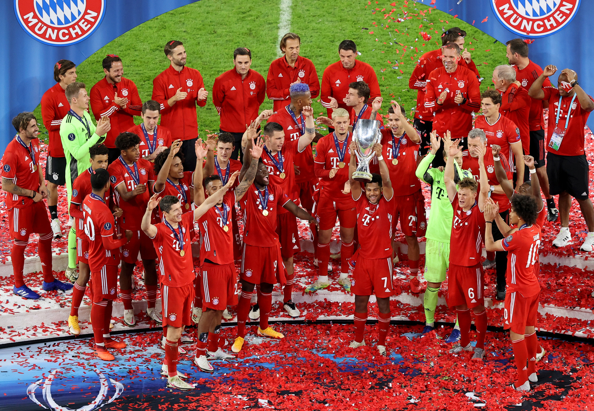 Bayern Munich beat Sevilla in the 2020 UEFA Super Cup, which was held in Budapest ©Getty Images