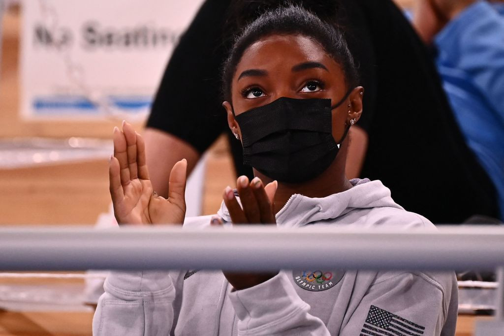 Multiple world and Olympic gymnastics champion Simone Biles of the United States has   decided to offer her support to colleagues rather than taking part in competition at the Tokyo Olympics in order to  maintain her mental wellbeing ©Getty Images
