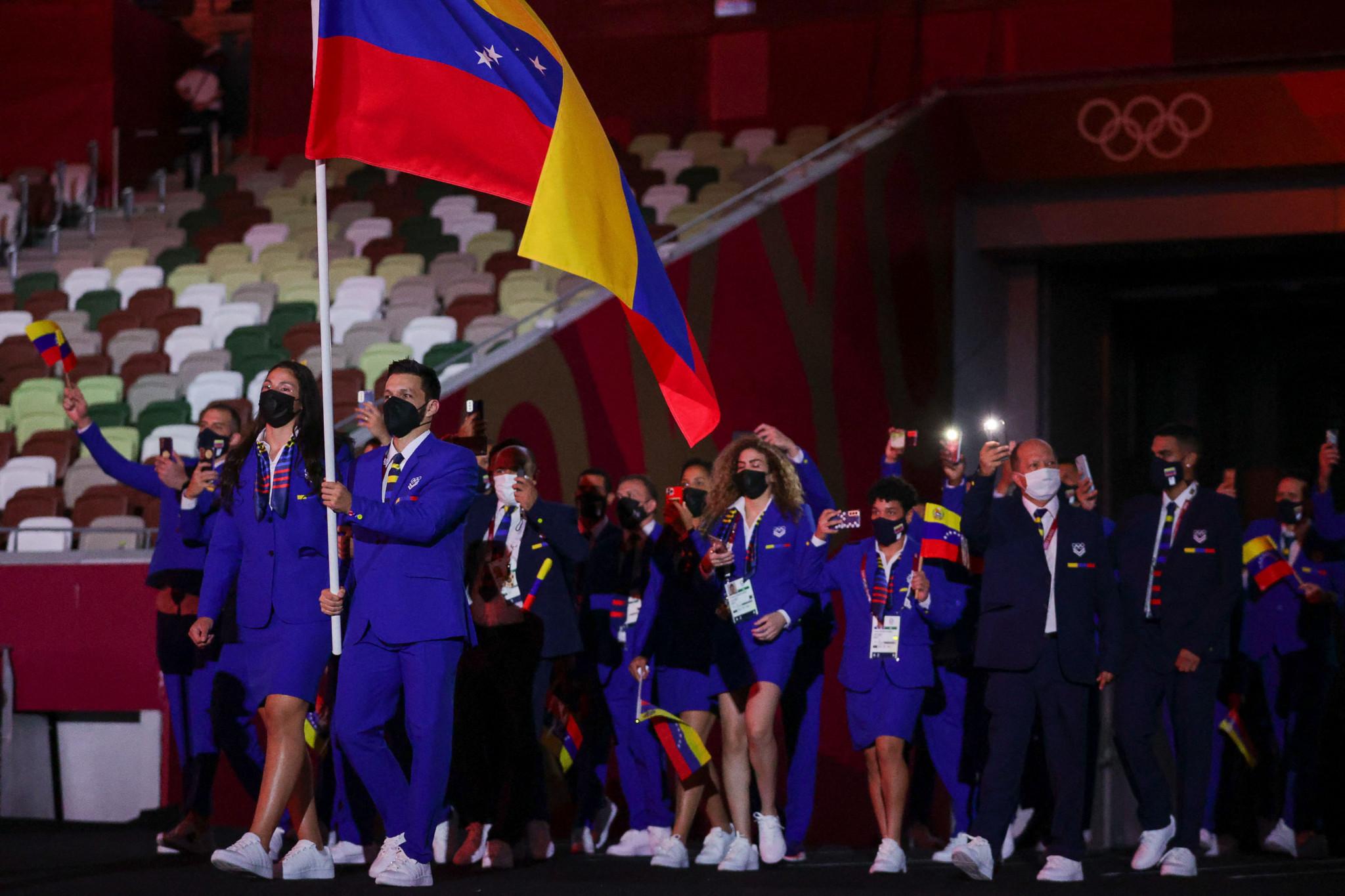 Karate star Antonio Diaz bears flag for Venezuela at Opening Ceremony