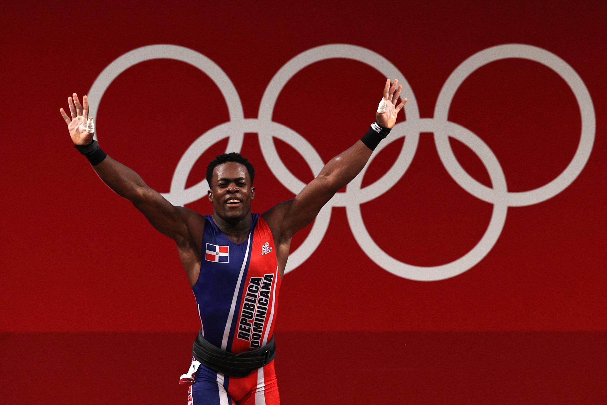 Zacarias Bonnat became the first ever weightlifting medallist from the Dominican Republic when he won silver in the 81kg category at the Tokyo 2020 Olympic Games ©Getty Images