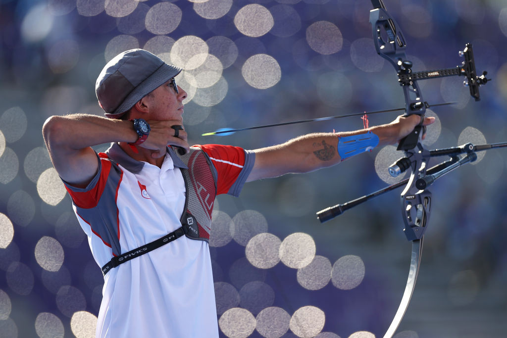 The Turkish archer saw off Mauro Nespoli of Italy to win the Olympic gold medal ©Getty Images