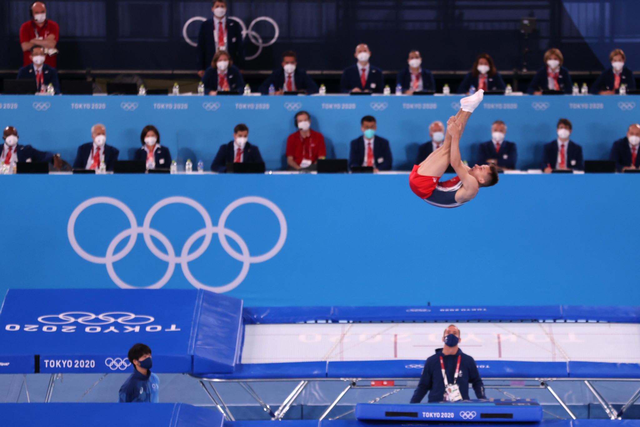 Ivan Litvinovich impresses the judges with his routine as he produced a gold-winning score of 61.715 points ©Getty Images